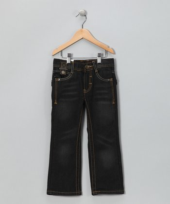 Resin Dark Blue Wash Straight Jeans - Toddler & Boys