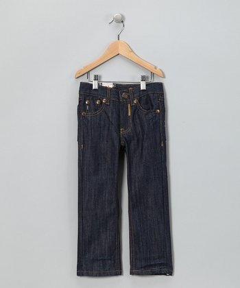 Raw Blue Wash Straight Jeans - Toddler & Boys