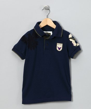 Navy Stripe Polo - Toddler & Boys