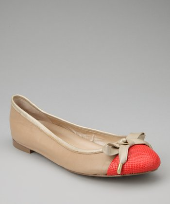 Light Natural Leather Genie Flat