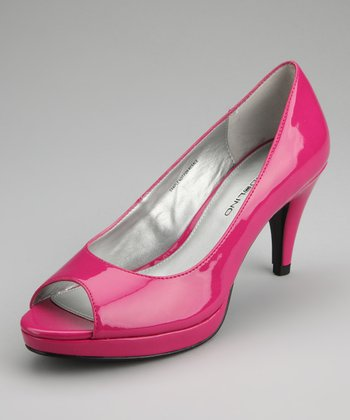 Dark Pink Mylah Peep-Toe Pump