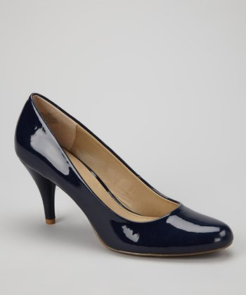 Blue Patent Courteous Pump