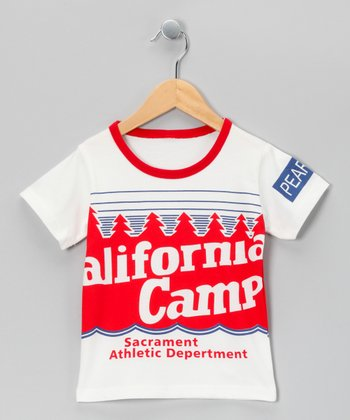 White & Red 'California Camp' Tee - Toddler & Kids