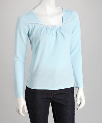 Blue Ribbon Lace Sweater