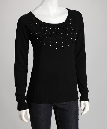 Black Pearl Scoop Neck Top