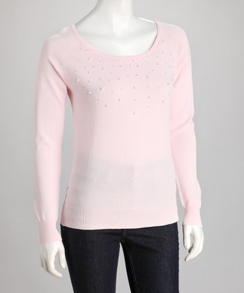 Pink Pearl Scoop Neck Top