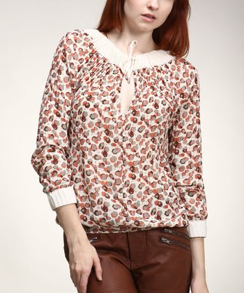 Cream Keyhole Top - Women