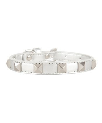 Silver Stud Dog Collar