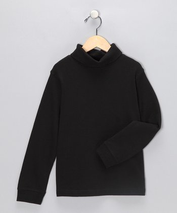 J. Khaki Black Turtleneck - Toddler & Boys