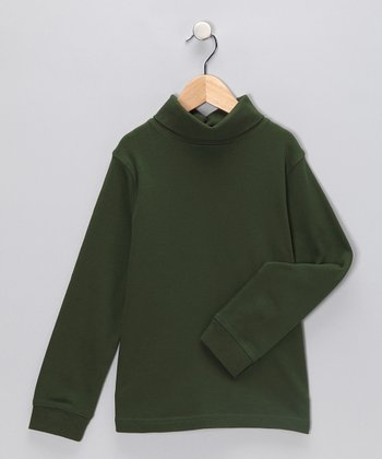 J. Khaki Green Turtleneck - Toddler & Boys