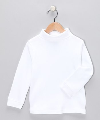 J. Khaki White Turtleneck - Toddler & Boys