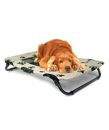 Black Paw Folding Pet Cot