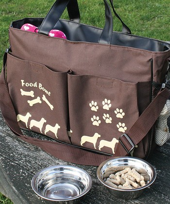 Pet Travel Tote & Bowl Set
