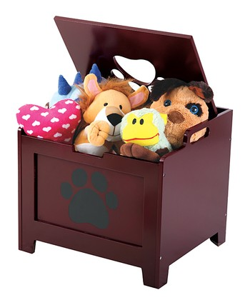 Walnut Brown Paw Pet Storage Box