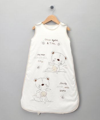 Ecru Teddy Bear Sleeping Sack