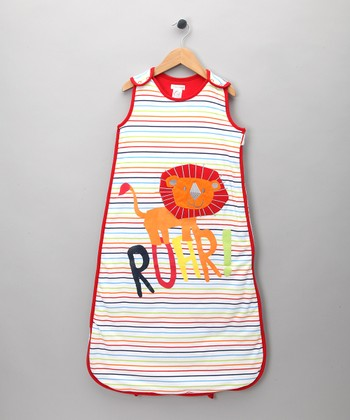 Rainbow Stripe Lion 'Roar' Sleeping Sack