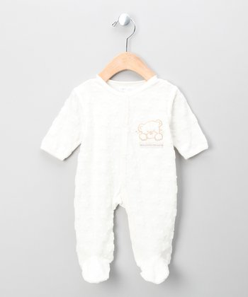 Ecru Teddy Bear Footie