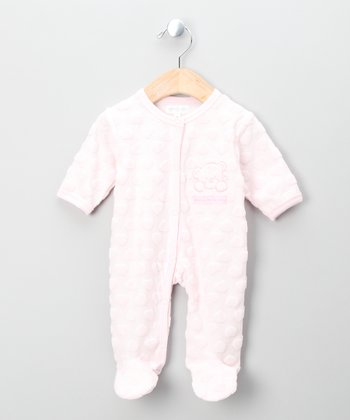 Pink Teddy Bear Footie