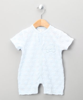 Blue Teddy Bear Romper