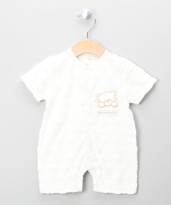 Ecru Teddy Bear Romper