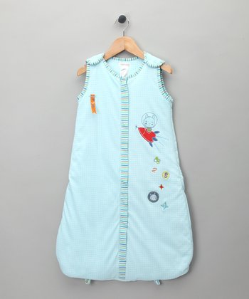 Blue Rocket Ship Sleeping Sack