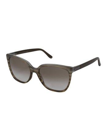Gucci Brown Azure Havana Cat-Eye Sunglasses