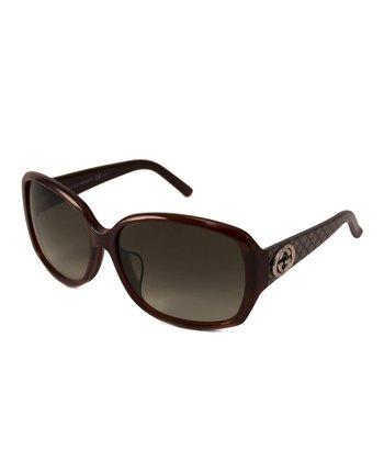 Gucci Brown Lattice Sunglasses