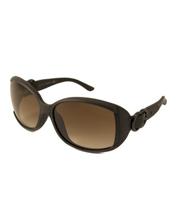 Gucci Brown Gradient Buckle Sunglasses