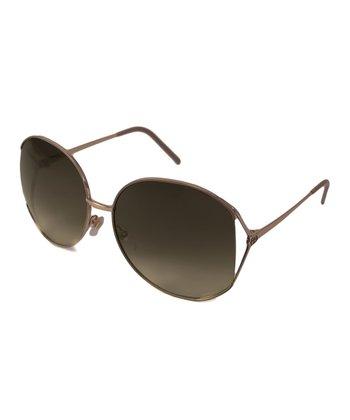 Gucci Brown Round Sunsglasses
