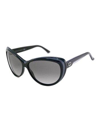 Gucci Dark Stripe Cat-Eye Sunglasses