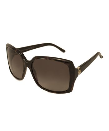 Gucci Havana Rectangular Sunglasses