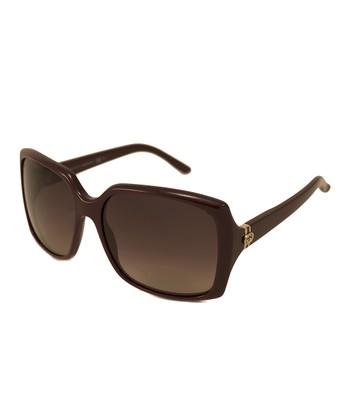 Gucci Burgundy Rectangular Sunglasses