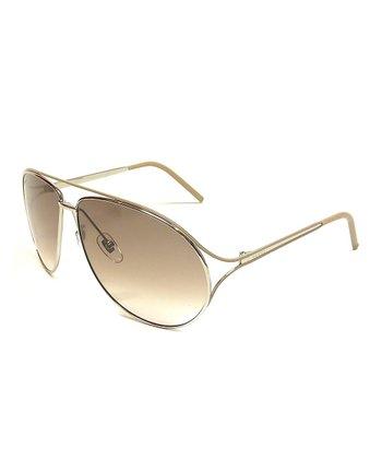 Gucci Silver Teardrop Sunglasses