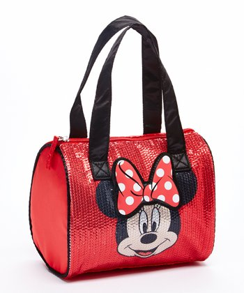Red Minnie Mouse Sequin Satchel