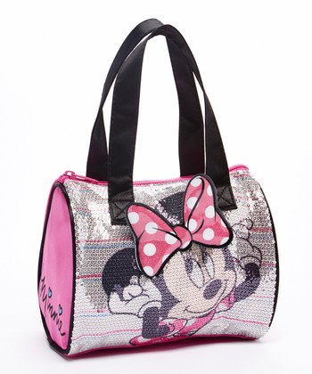 Pink Minnie Mouse Sequin Satchel