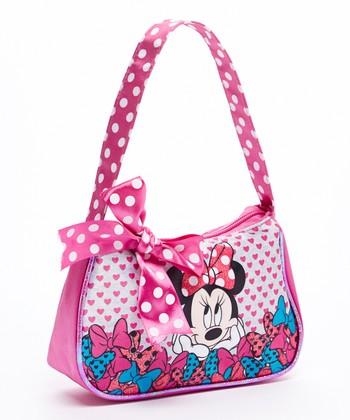 Pink Minnie Mouse Bow Handbag
