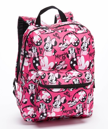 Pink Minnie Mouse All-Over Backpack
