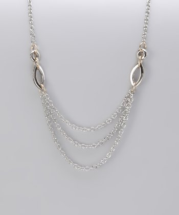Silver & Gold Two-Tone Layered Chain Necklace