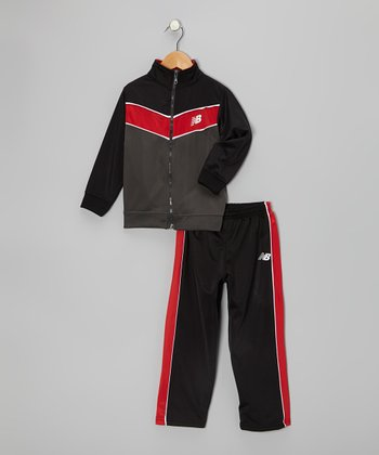 Black & Red Track Suit - Toddler