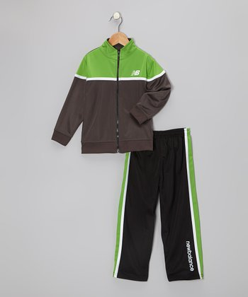 Black & Lime Track Suit - Toddler
