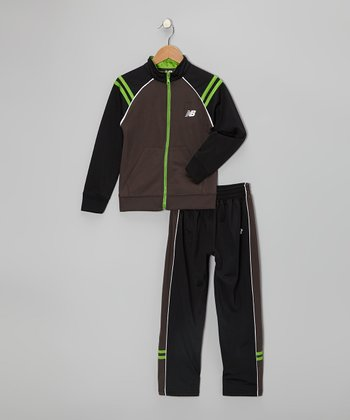 Black & Charcoal Track Suit - Toddler