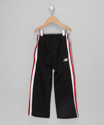 Black & Red Track Pants - Toddler