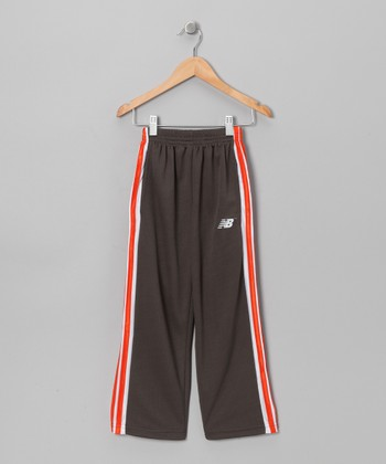 Charcoal & Red Track Pants - Toddler & Boys