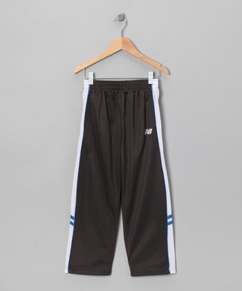 Charcoal & Turquoise Piping Track Pants - Boys