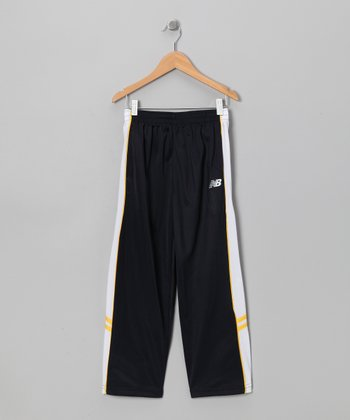Navy & Gold Piping Track Pants - Boys