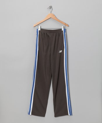 Charcoal & Blue Track Pants - Boys
