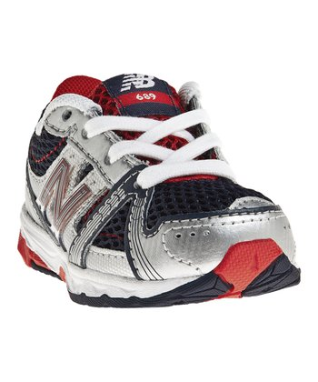 Navy & Red KJ689 Running Shoe