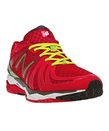 Red & Lime Green M890v2 Running Shoe - Men