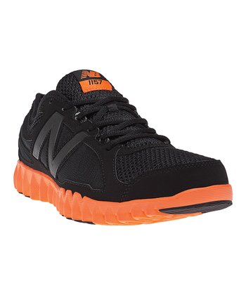 Black & Orange NB Gruve 1157 Cross-Training Shoe - Men