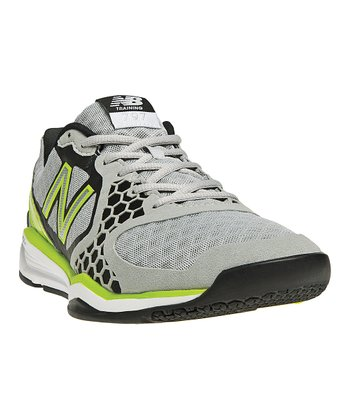 Gray & Lime Green 797 Cross-Training Shoe - Men